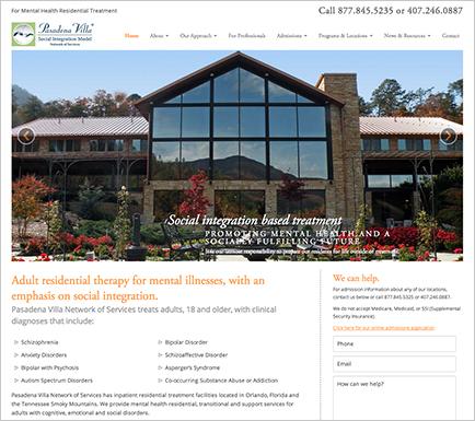 pasadena villa responsive website