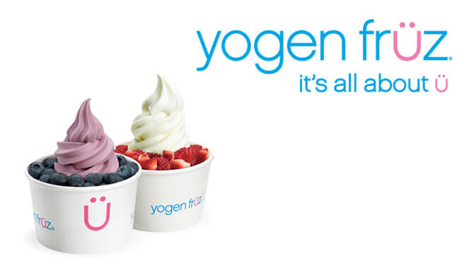 Yogen Fruz frozen yogurt
