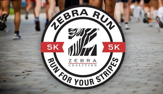 Zebra Run badge