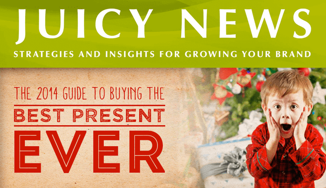 Juicy News 2014 guide to buying best present ever header