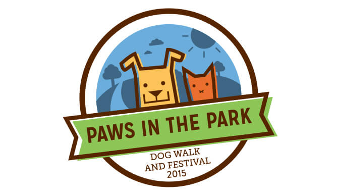Paws in the Park 2015 logo