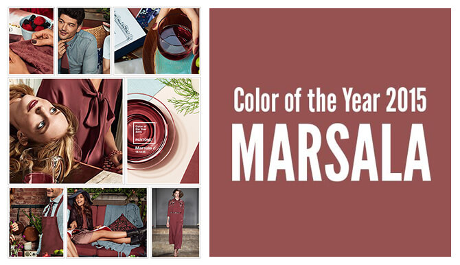 Color of the year 2015 marsala collage.