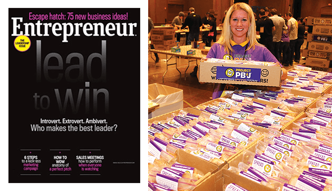 Entrepreneur magazine and which wich pbj video still