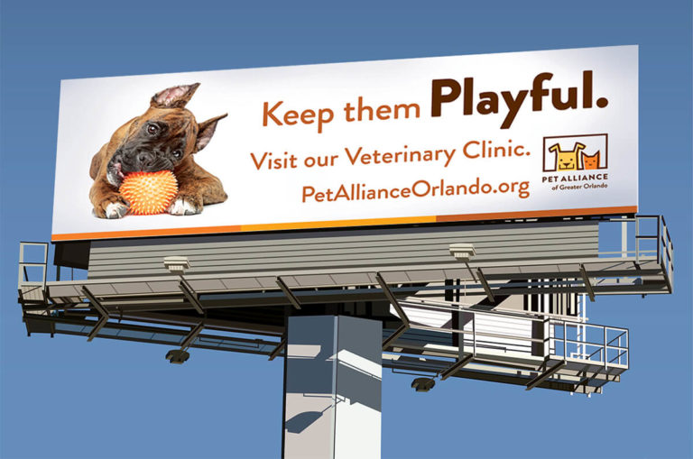 Pet Alliance of Greater Orlando billboard