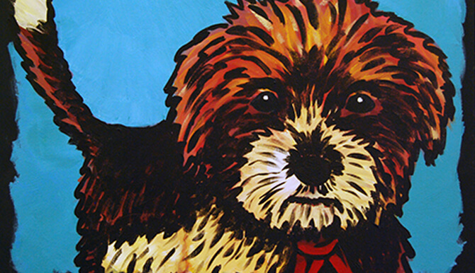pet alliance gallery show dog painting