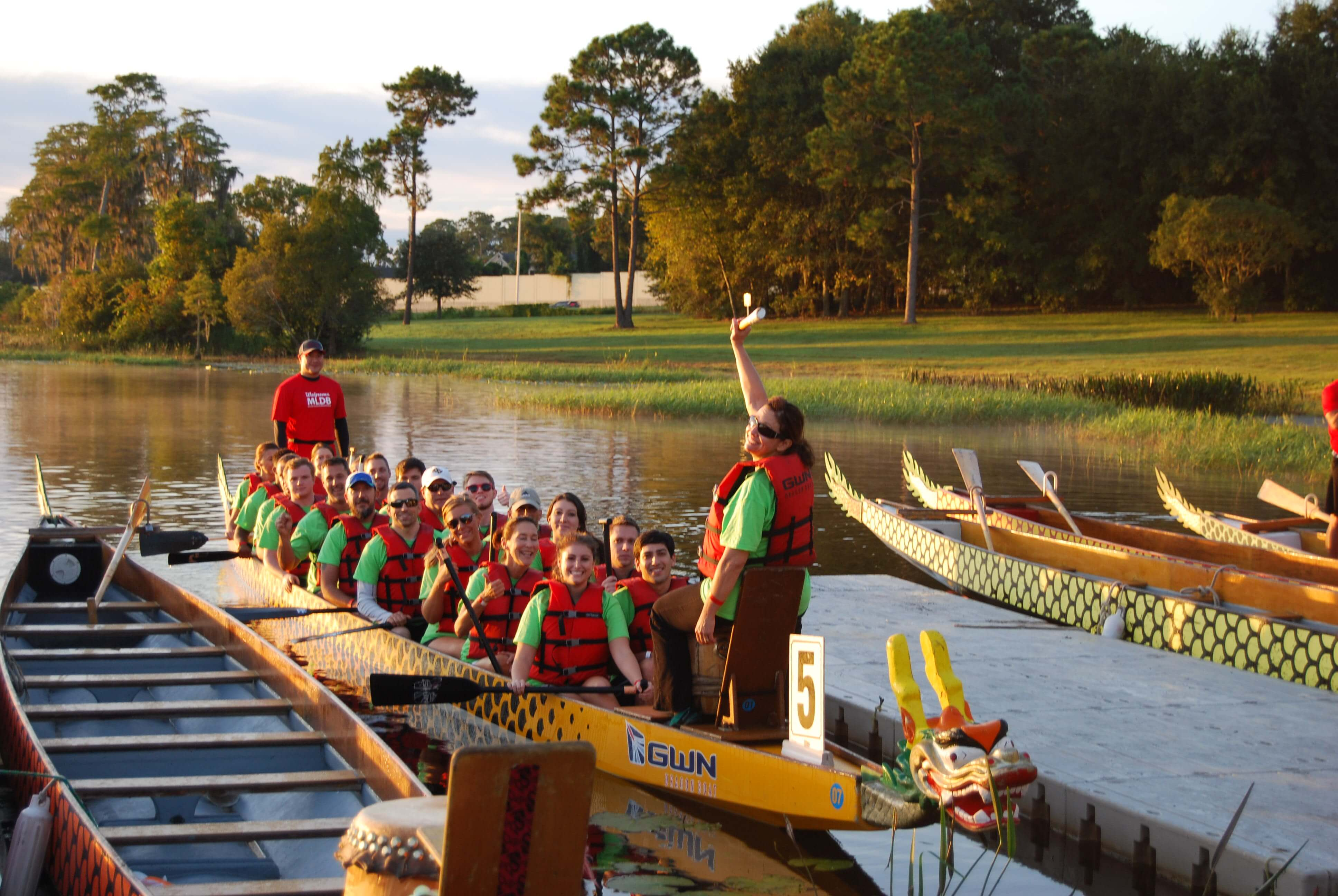 Appleton Creative in a Dragon Boat