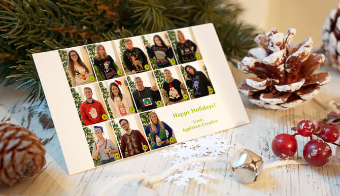 Ugly sweater christmas card 2015