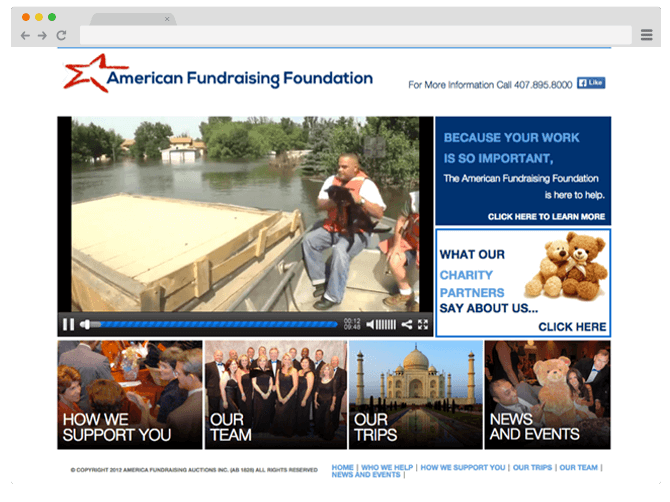 old American Fundraising Foundation website