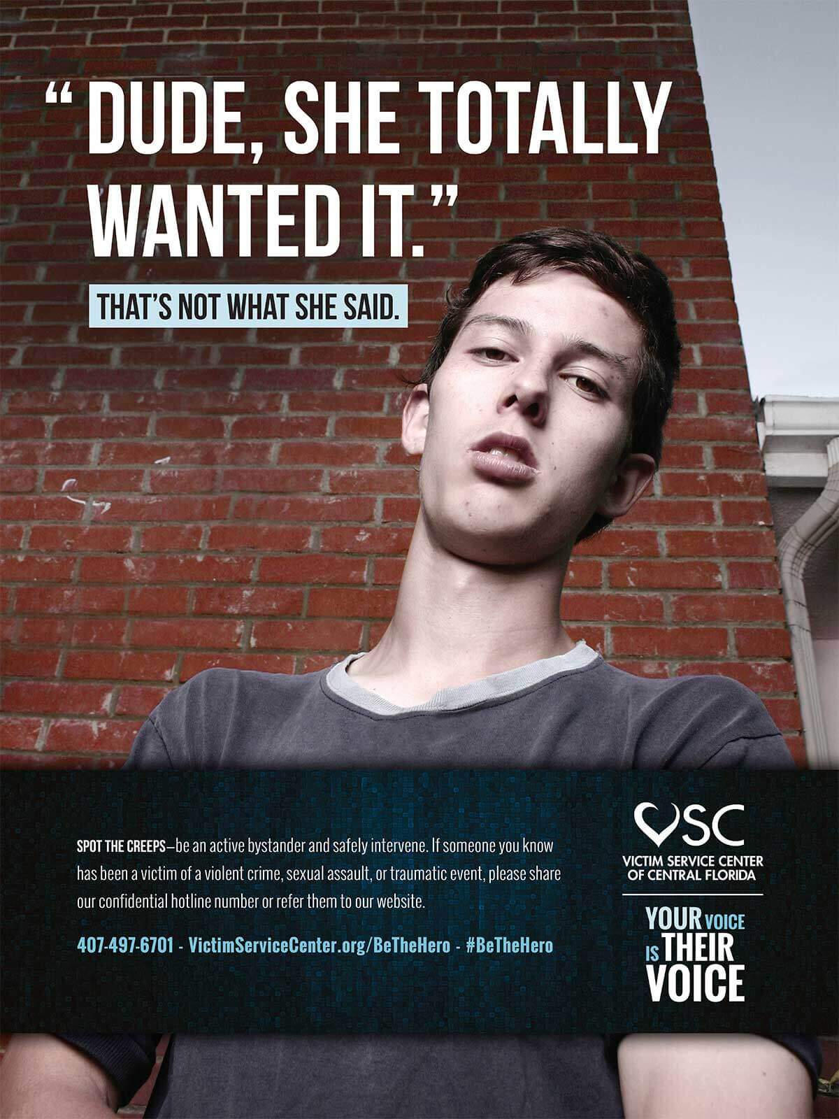 Victims Service Center of Central Florida Awareness poster