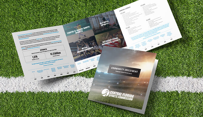 Creative Brochure Design for Central Florida Sports Commission