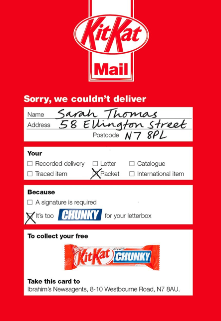 promotional mailer example
